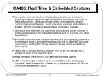ca480 real time embedded systems