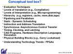 conceptual tool box