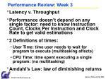 performance review week 3