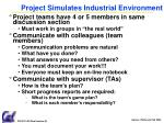 project simulates industrial environment