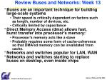 review buses and networks week 13