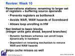 review week 10