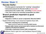 review week 11