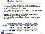 review week 2