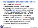 the spectacle of american football