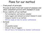 plans for our method