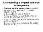 charactering a longest common subsequence