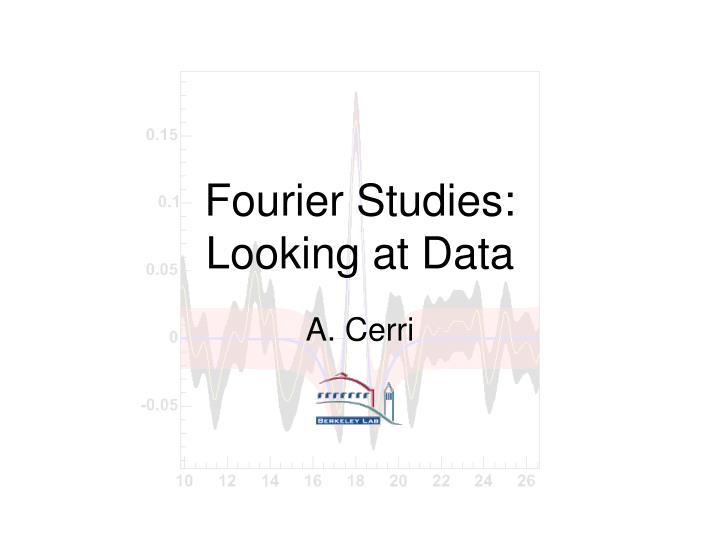 fourier studies looking at data n.