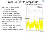 from fourier to amplitude
