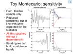 toy montecarlo sensitivity