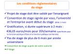 les conditions r glementaires du stage