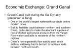 economic exchange grand canal