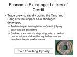 economic exchange letters of credit