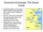 economic exchange the grand canal