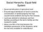 social hierarchy equal field system