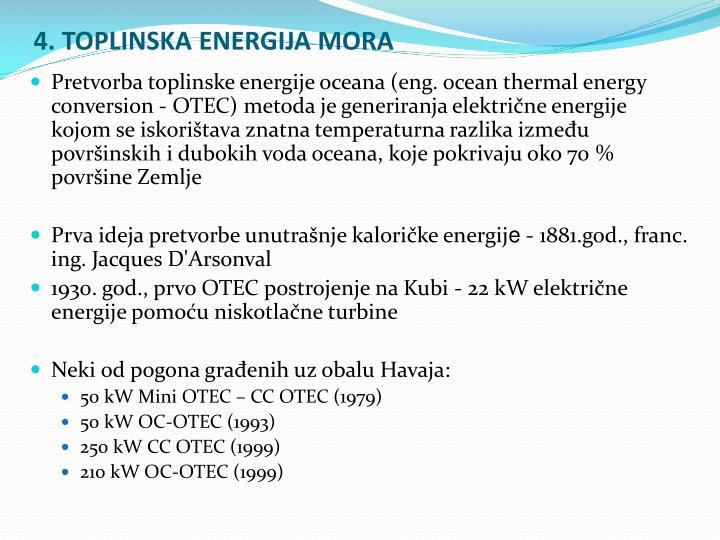 4. TOPLINSKA ENERGIJA MORA