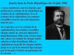 jaur s dans la petite r publique du 14 juin 1901