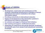 goals of grena