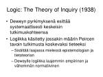 logic the theory of inquiry 1938