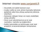internet sivusto www senjanetti fi