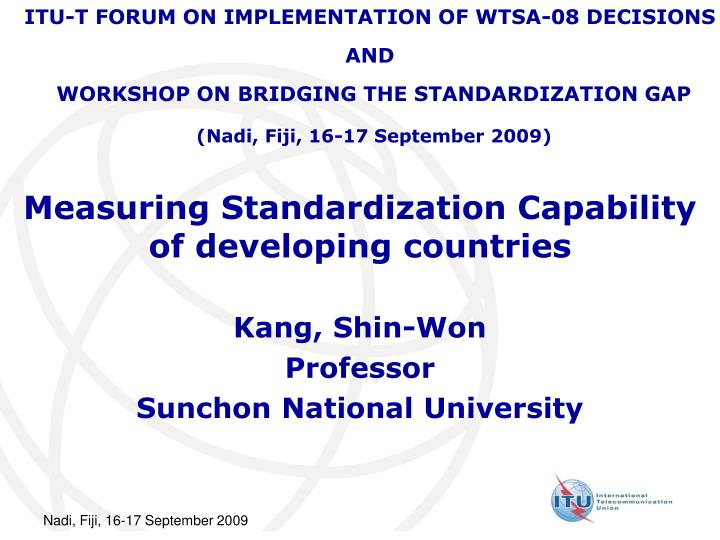 measuring standardization capability of developing countries n.