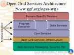 open grid services architecture www ggf org ogsa wg
