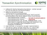 transaction synchronization
