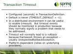 transaction timeout