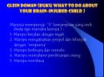 glein doman buku what to do about your brain injured child
