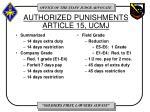 authorized punishments article 15 ucmj