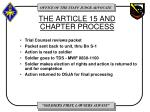 the article 15 and chapter process1