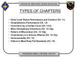 types of chapters1