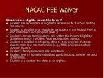 nacac fee waiver