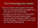 the commonapp fee waivers