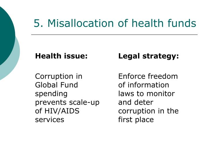 5. Misallocation of health funds
