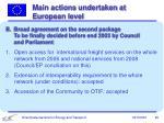 main actions undertaken at european level1