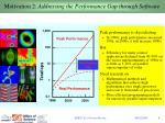 motivation 2 addressing the performance gap through software