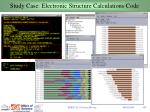 study case electronic structure calculations code