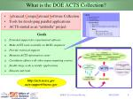 what is the doe acts collection