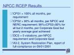 npcc rcep results