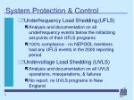 system protection control