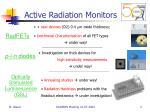 active radiation monitors