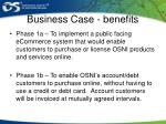business case benefits