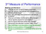 3 rd measure of performance