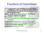 functions of committees