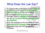 what does the law say1