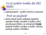 co je syst m kvality dle iso 9000