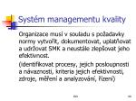 syst m managementu kvality
