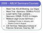 2009 ablm seminars courses
