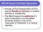 ablm board certified specialist